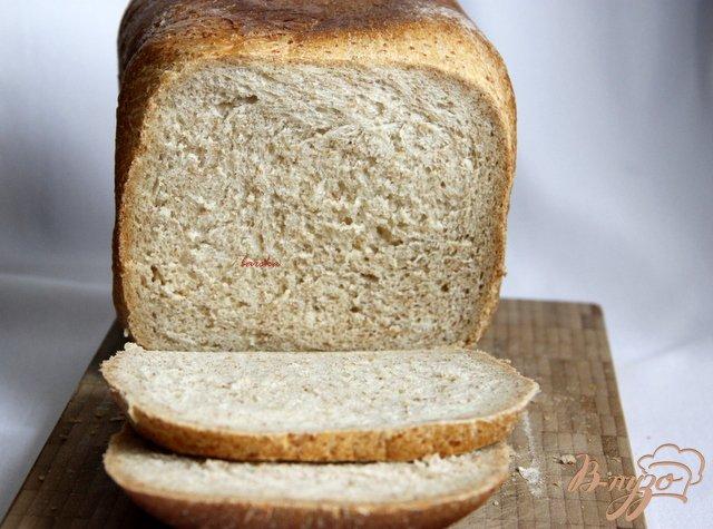 Фото приготовление рецепта: Хлеб пшенично-цельнозерновой шаг №4