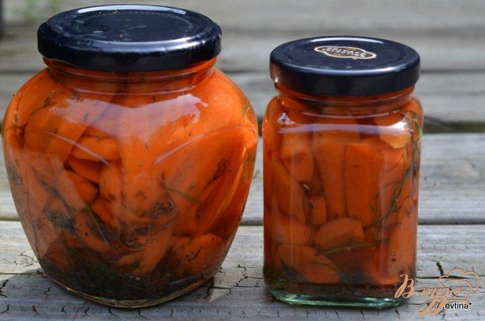 Фото приготовление рецепта: Маринованная морковь шаг №5