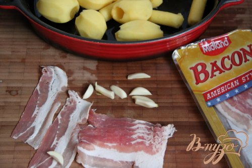 Запеченый картофель с беконом от Джейми