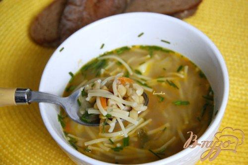 Постный гороховый суп с вермишелью