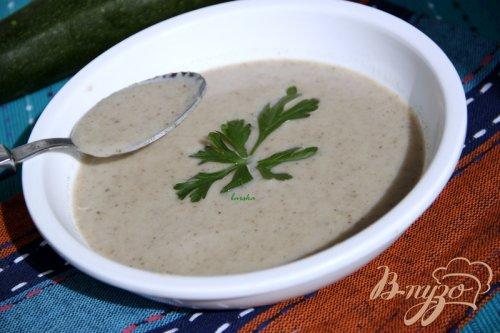 Крем-суп из шампиньонов и цукини