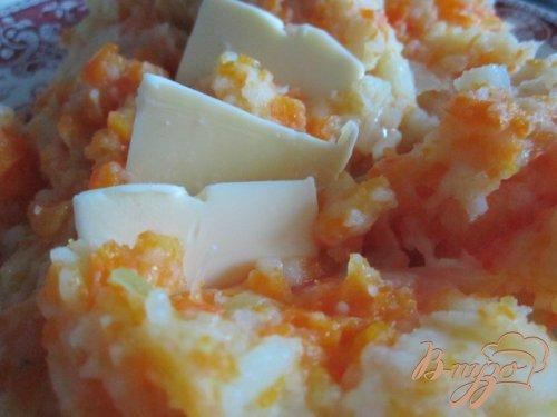 Давленый картофель с морковью и карри