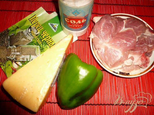 Свинина под болгарским перцем и сыром
