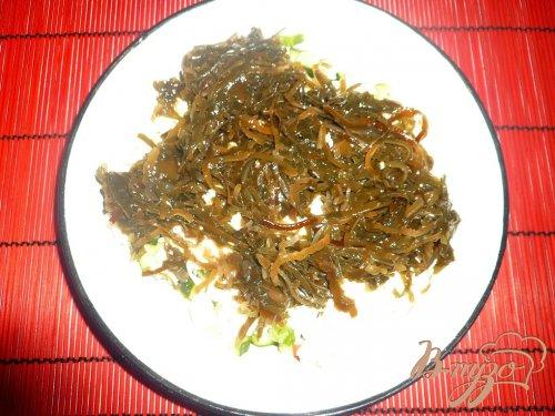 Нежный салат с морской капустой