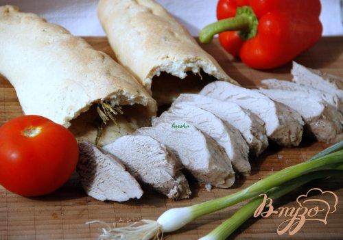 Свиное филе, запечённое в солёной хлебной корочке