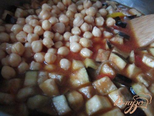 Густой овощной  суп с горохом нут