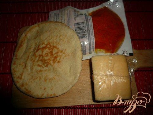 Хрустящая пита с морковью-по корейски и сыром