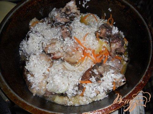 Каша рисовая с курицей