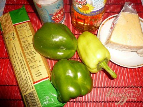 Макароны с болгарским перцем и сыром