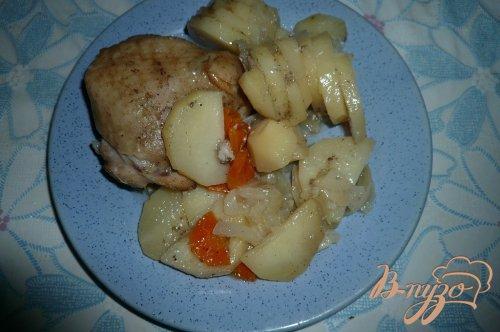 Картофель с курицей в банке