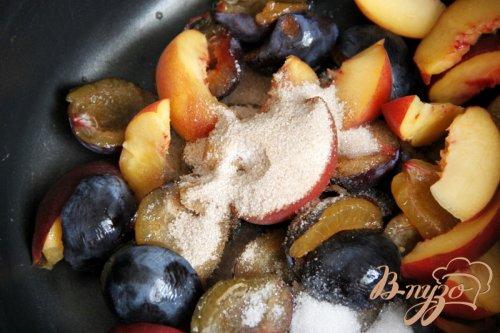 Сливово-персиковый компот