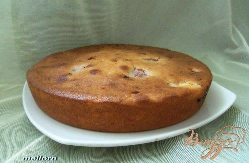 Пирог с нектарином и шоколадом