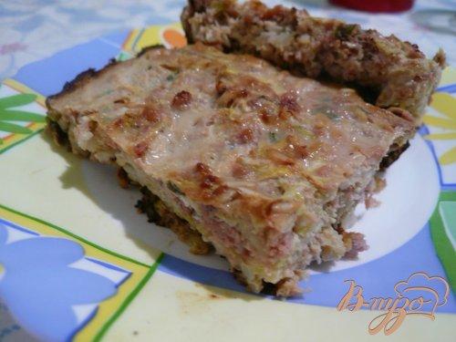 Кабачковая запеканка с мясом и рисом