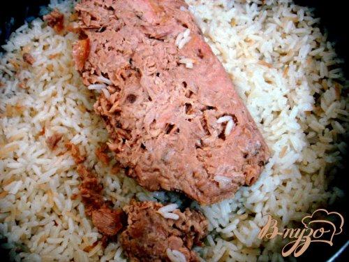 Рис с овощами и тунцом