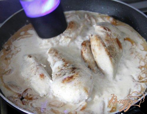 Куриные грудки в сливочно абрикосовом соусе