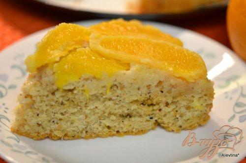 Апельсиновый перевернутый кекс
