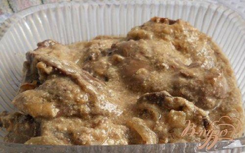 Печень индейки в сметане