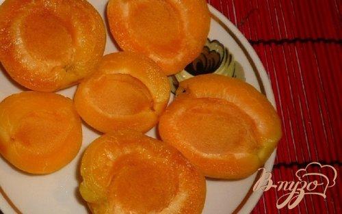Желе с абрикосами и нектарином