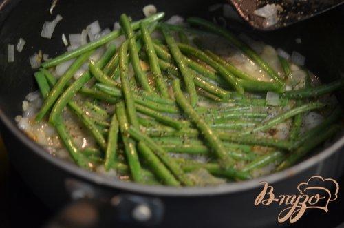 Зеленая фасоль с шиитаке
