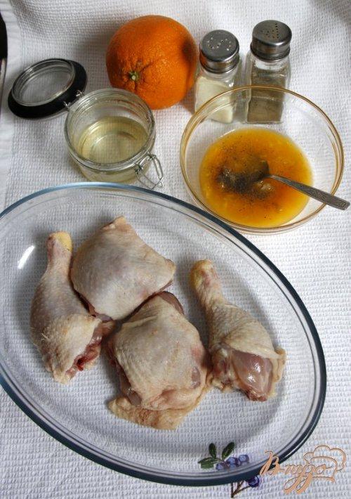 Апельсиновые куриные бёдрышки