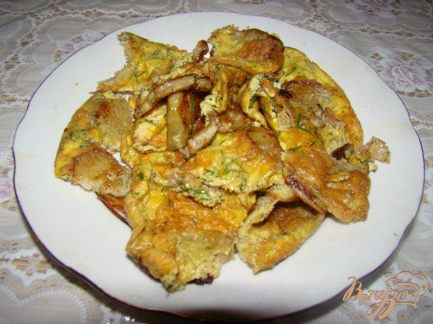 Рецепт Яичница с баклажанами