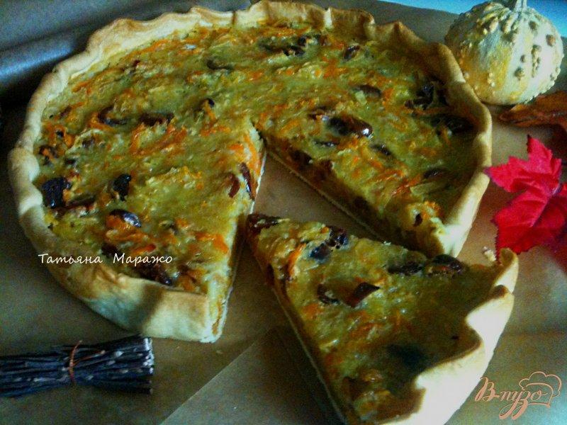 Фото приготовление рецепта: Яблочно-тыквенный открытый пирог шаг №9