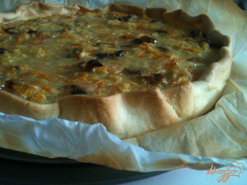 Фото приготовление рецепта: Яблочно-тыквенный открытый пирог шаг №8