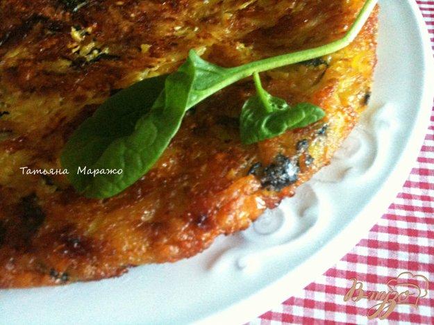 Рецепт Картофельная тортилья со шпинатом и сладким перчиком