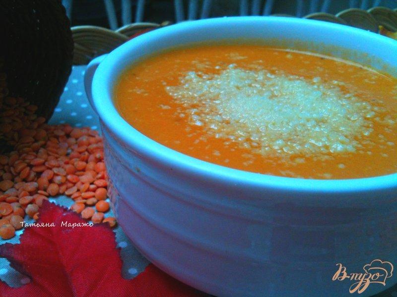 Фото приготовление рецепта: Суп-пюре из красной чечевицы  с тыквой шаг №7