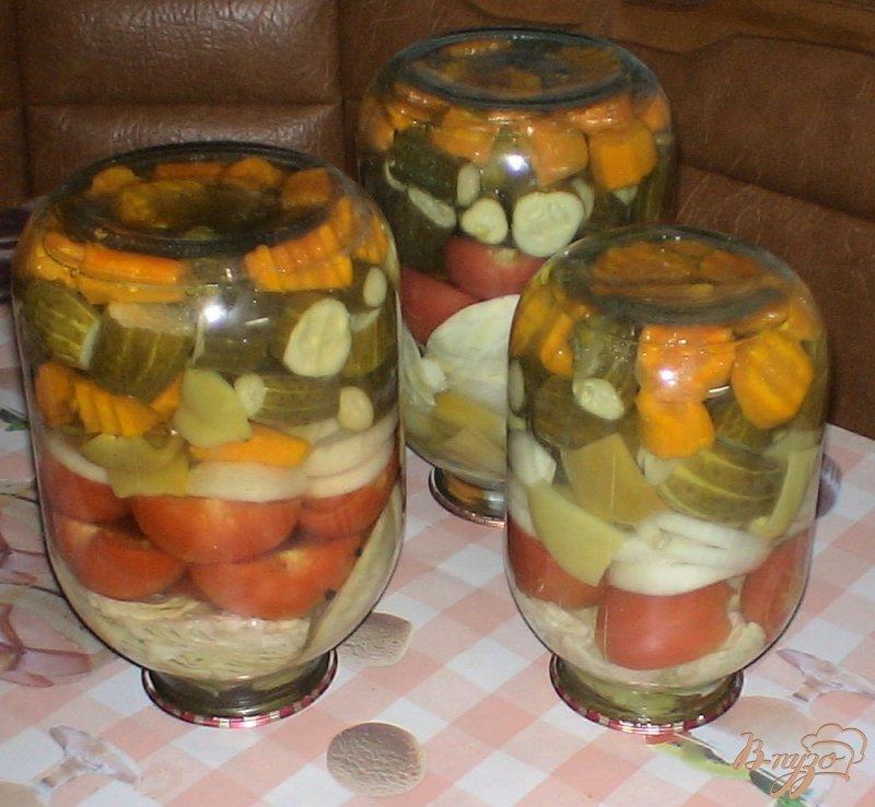 Фото приготовление рецепта: Овощное ассорти шаг №11