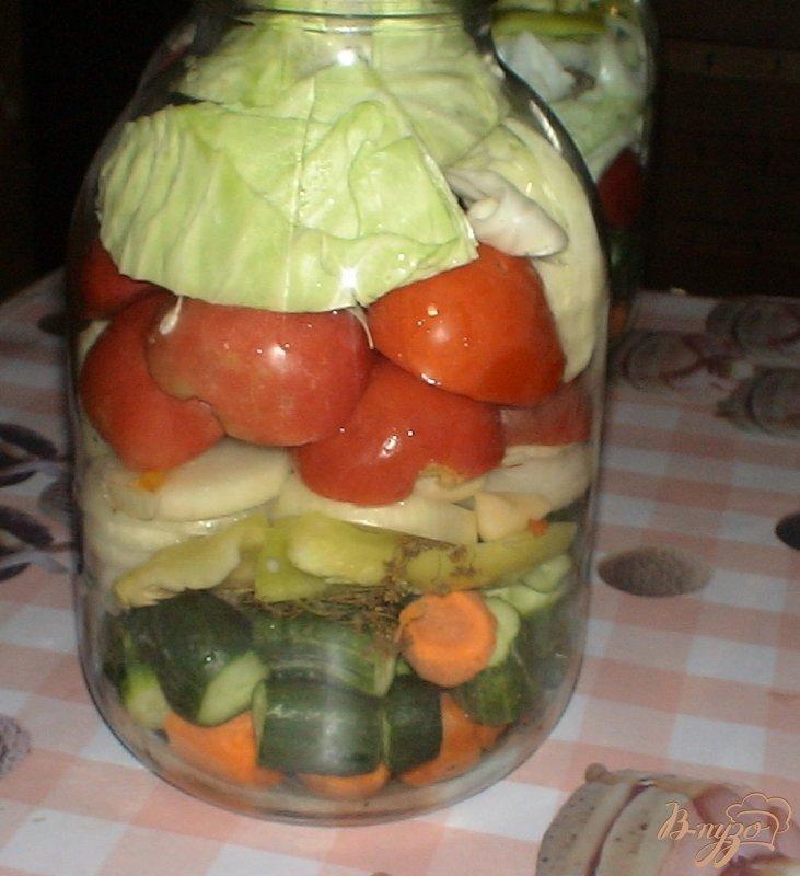 Фото приготовление рецепта: Овощное ассорти шаг №8