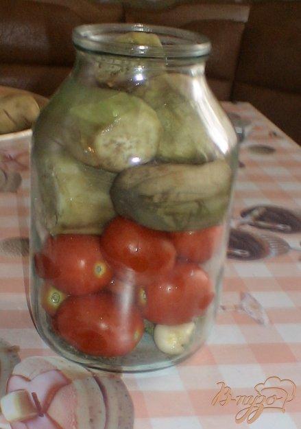 фото рецепта: Помидоры с баклажанами консервированные