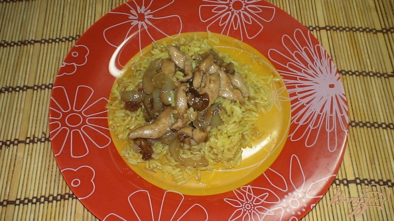 Фото приготовление рецепта: Куриное филе по-китайски с рисом шаг №9