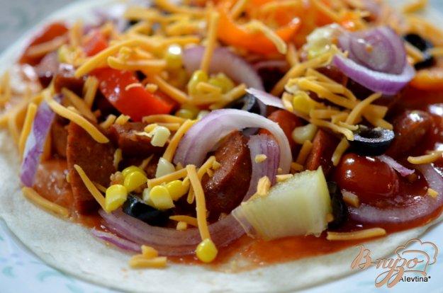 Рецепт Лепешки с колбасой чоризо