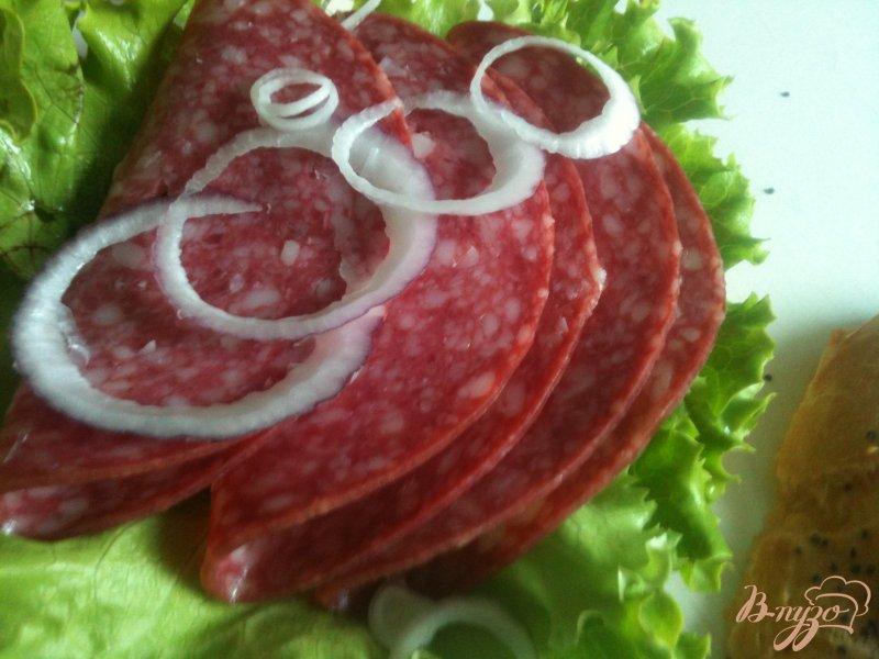 Фото приготовление рецепта: Сендвич с булочкой из заварного теста шаг №5