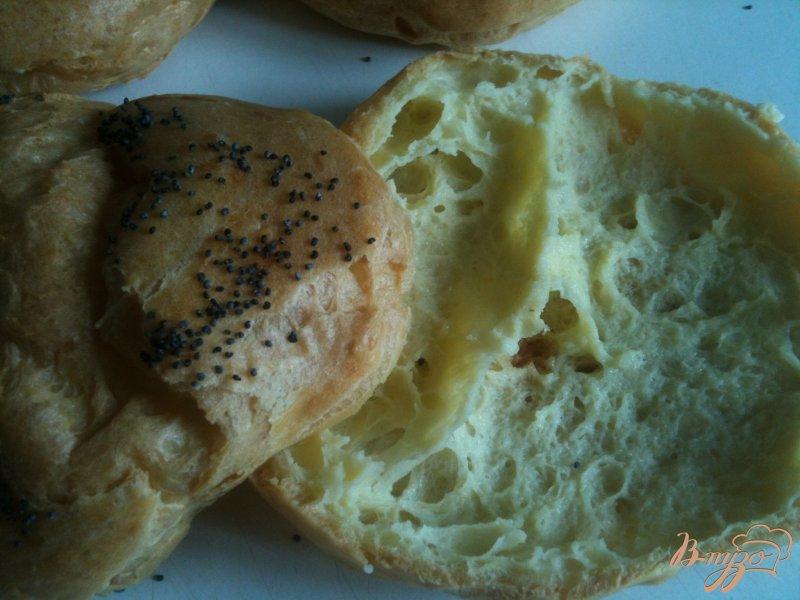 Фото приготовление рецепта: Сендвич с булочкой из заварного теста шаг №4