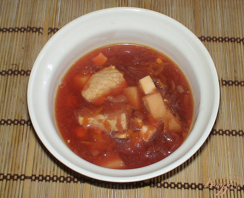 Фото приготовление рецепта: Свекольник со свининой шаг №8