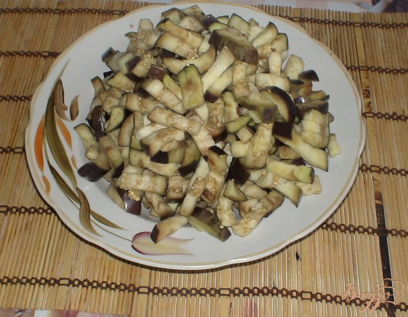 Фото приготовление рецепта: Баклажаны по-корейски шаг №2