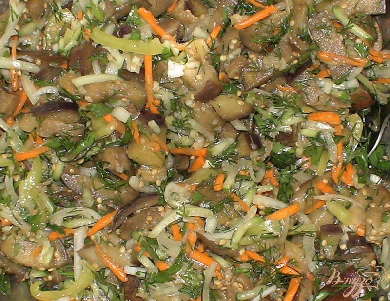 Фото приготовление рецепта: Баклажаны по-корейски шаг №8