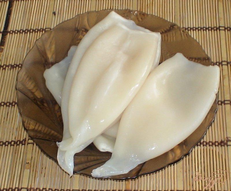 Фото приготовление рецепта: Кальмары по-корейски шаг №1
