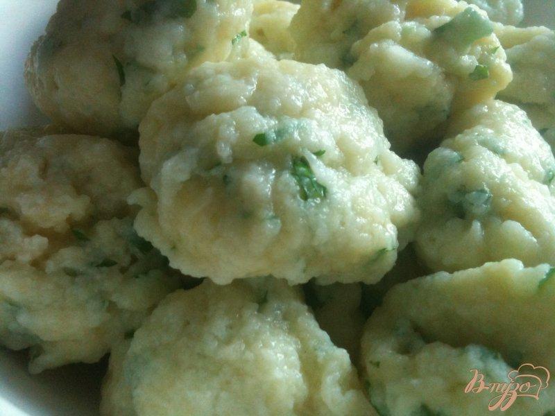 Фото приготовление рецепта: Тыквенный суп с  сырными клецками шаг №8