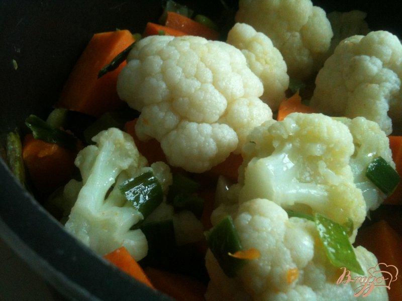 Фото приготовление рецепта: Тыквенный суп с  сырными клецками шаг №3