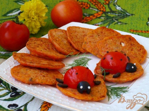 Рецепт Помидорные оладушки с фетой и маслинами