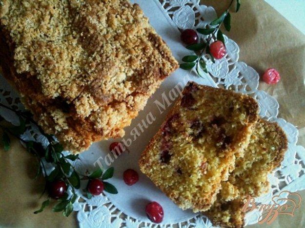 Рецепт Кекс с клюквой и штрейзелем
