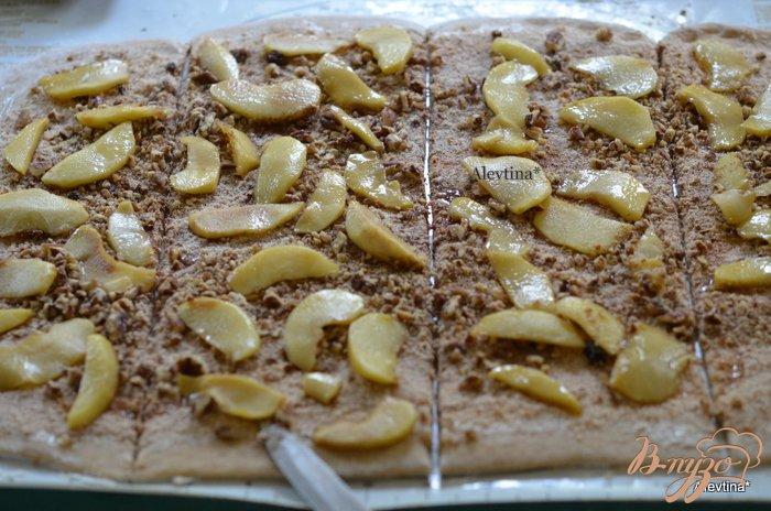 Фото приготовление рецепта: Яблочный карамельный фантанс шаг №6