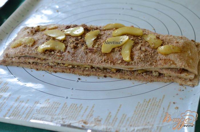 Фото приготовление рецепта: Яблочный карамельный фантанс шаг №7