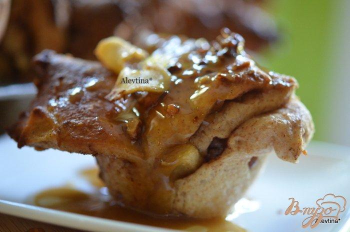 Фото приготовление рецепта: Яблочный карамельный фантанс шаг №11