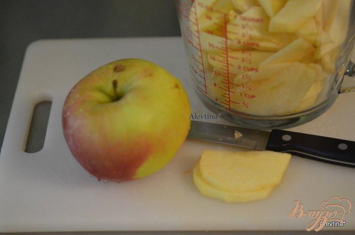 Фото приготовление рецепта: Яблочный карамельный фантанс шаг №2