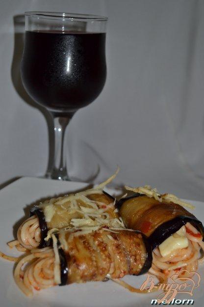 Рецепт Рулеты из баклажан со спагетти и сыром