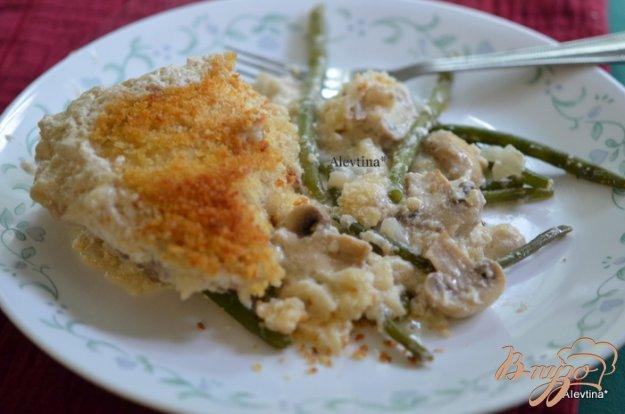 Рецепт Куриная запеканка с зеленой фасолью
